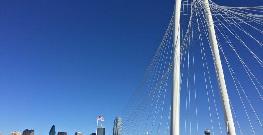 Margaret Hunt Hill Bridge in DFW