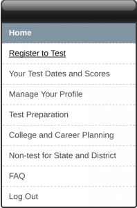 Register for the ACT: Register to Test
